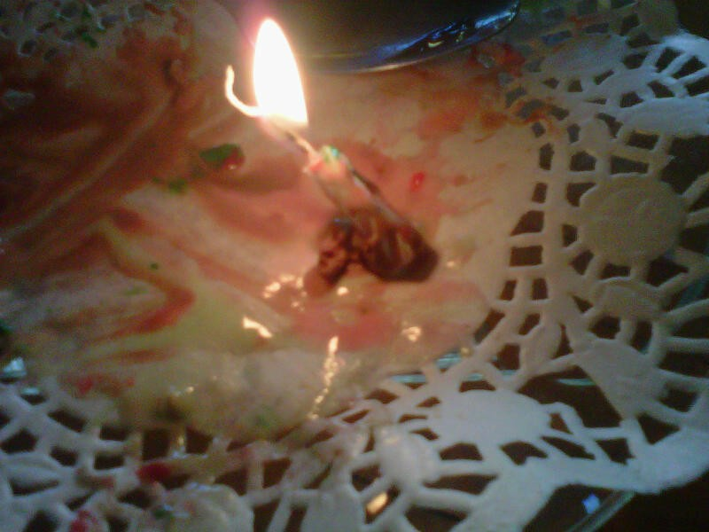 Try to eat the ice cream and keep the candle upright burning until the end! This is a fun competition in a group.